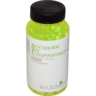 Maximum International, Avocado 300 Soy Unsaponifiables, 600 mg, 60 Tablets