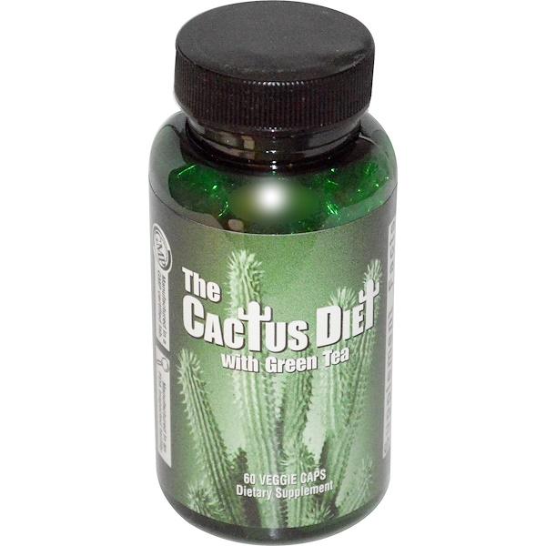 Maximum International, The Cactus Diet, with Green Tea, 60 Veggie Caps (Discontinued Item)