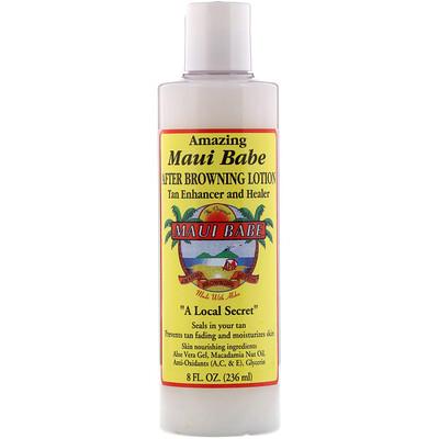 Купить Maui Babe After Browning Lotion, лосьон после загара для улучшения цвета загара и ухода за кожей, 236мл