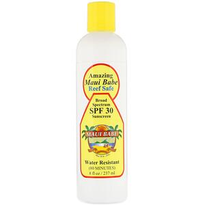 Maui Babe, Amazing Sunscreen, SPF 30, Reef Safe, 8 fl oz (237 ml) отзывы