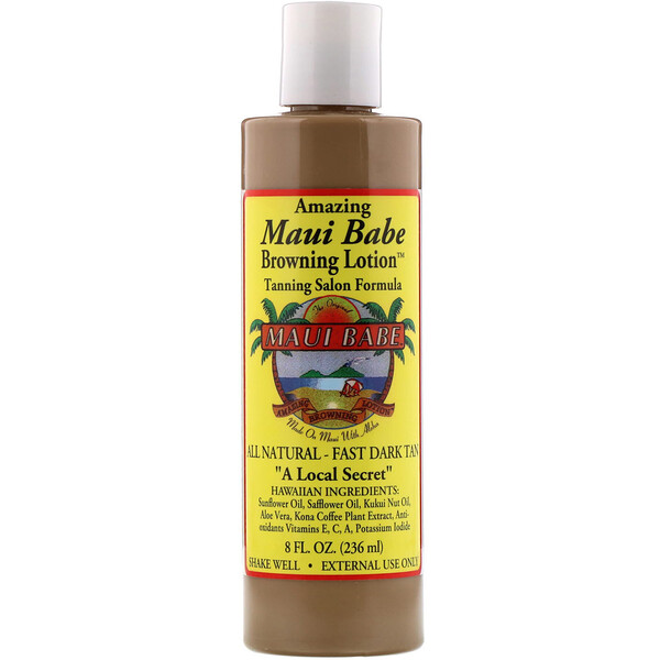 Maui Babe, Amazing Browning Lotion, Tanning Salon Formula, 8 fl oz (236 ml)