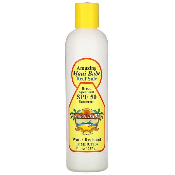 Maui Babe, Amazing  Maui Babe Sunscreen, SPF 50, 8 fl oz (237 ml) (Discontinued Item)