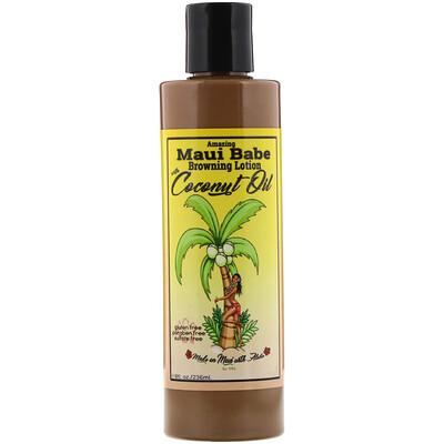 Купить Maui Babe Amazing Browning Lotion with Coconut Oil, 8 fl oz (236 ml)