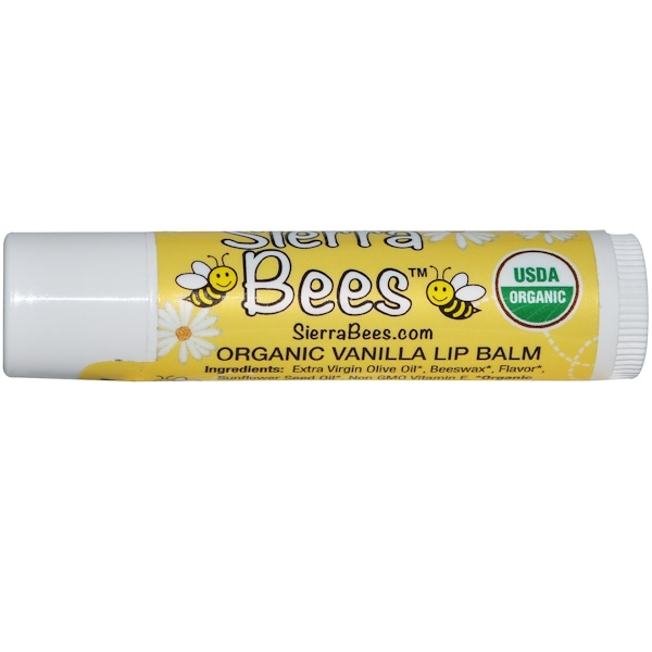 Sierra Bees, Organic Vanilla Beeswax Lip Balm with Vitamin E (Discontinued Item)