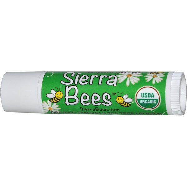 Sierra Bees, Organic Tamanu & Tea Tree Beeswax Lip Balm with Vitamin E (Discontinued Item)
