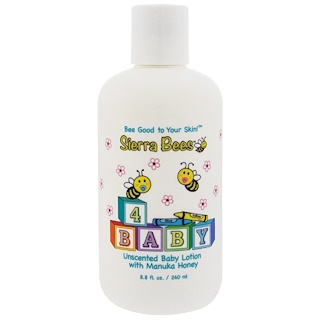 Sierra Bees, Baby Lotion with Manuka Honey, Unscented, 8.8 fl oz (260 ml)