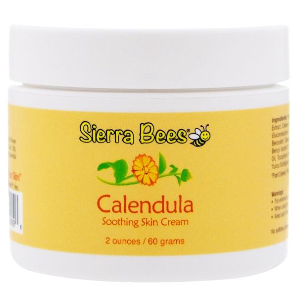 Sierra Bees, Caléndula, crema calmante para la piel, 2 oz (60 g) (Discontinued Item)