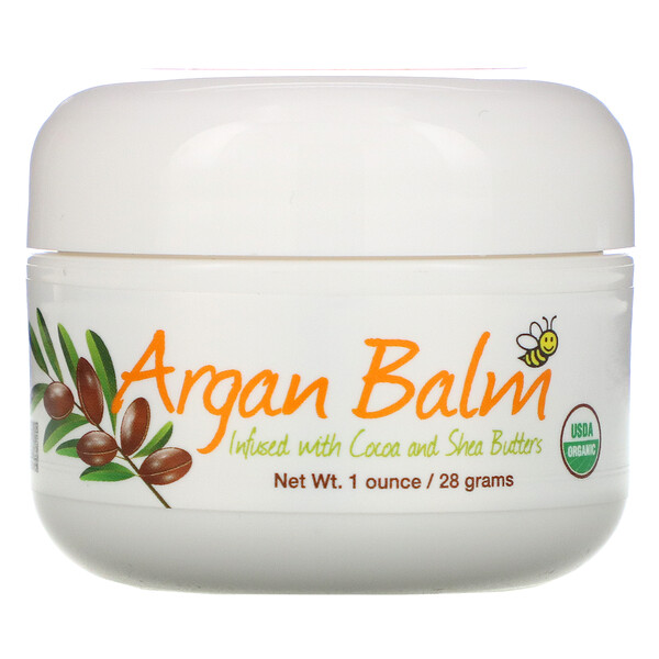 Sierra Bees, Argan Balm With Cocoa & Shea Butter, 1 oz (28 g)