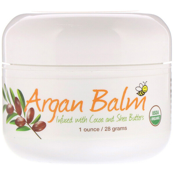 Argan Balm With Cocoa & Shea Butter, 1 oz (28 g)