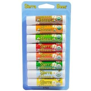 Sierra Bees, オーガニックリップクリーム バラエティーパック8本入り