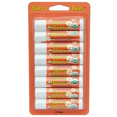 Sierra Bees, Organic Lip Balms, Shea Butter & Argan Oil, 8 Pack, .15 oz (4.25 g) Each
