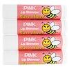 Sierra Bees, 鮮やかなリップシマーバーム、ピンク、4パック (Discontinued Item)