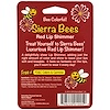 Sierra Bees, Tinted Lip Shimmer Balms, Red, 4 Pack