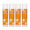 Sierra Bees, 유기농 립 밤, 감귤 카모마일, 4팩, .15 oz (4.25 g) 각