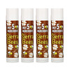 Sierra Bees, Organic Lip Balms, Coconut, 4 Pack, .15 oz (4.25 g) Each