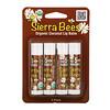 Sierra Bees, Organic Lip Balms, Coconut, 4 Pack, .15 oz (4.25 g) Each