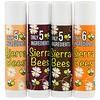 Sierra Bees, عبوة بلسم شفاة عضوي متنوعة، 4 عبوات، 0.15 أونصة (4.25 جم) لكل عبوة
