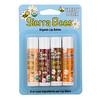 Sierra Bees, набор органических бальзамов для губ, 4 штуки, вес: 4,25 г (0,15 унции) каждый