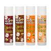 Sierra Bees, Pack surtido de bálsamos orgánicos para labios, 4 unidades, 4,25g (0,15oz) cada una