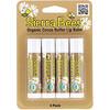 Sierra Bees, بلسم الشفاه العضوي، زبدة الكاكاو، 4 عبوات، 0.15 أوقية (4.25 جم) لكل عبوة