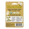 Sierra Bees, Organic Lip Balms, Cocoa Butter, 4 Pack, .15 oz (4.25 g) Each