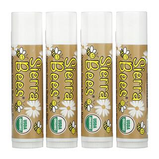 Sierra Bees, 유기농 립밤, 4 팩, 각 0.15 oz (4.25 g)