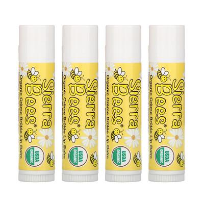 Купить Sierra Bees Органические бальзамы для губ, крем-брюле, 4 штуки в упаковке весом 0, 15унции (4, 25г) каждая