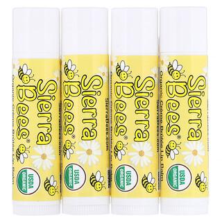 Sierra Bees, Organic Lip Balms, Creme Brulee, 4 Pack, .15 oz (4.25 g) Each
