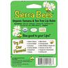 Sierra Bees, Biologische Lippenbalsame, Tamanu & Teebaum, 4er Pack, 0,15 oz (4,25 g) je Stück