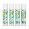 Sierra Bees, Organic Lip Balms, Unflavored, 4 Pack, .15 oz (4.25 g) Each
