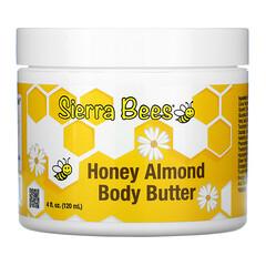 Sierra Bees, Manteca corporal de miel y almendras, 120ml (4oz.líq.)