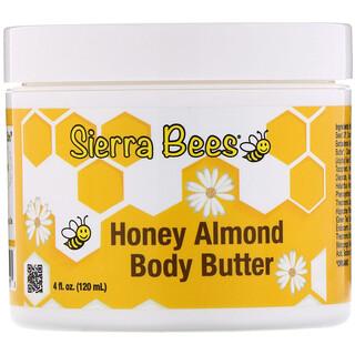Sierra Bees, Honey Almond Body Butter, 4 fl oz (120 ml)