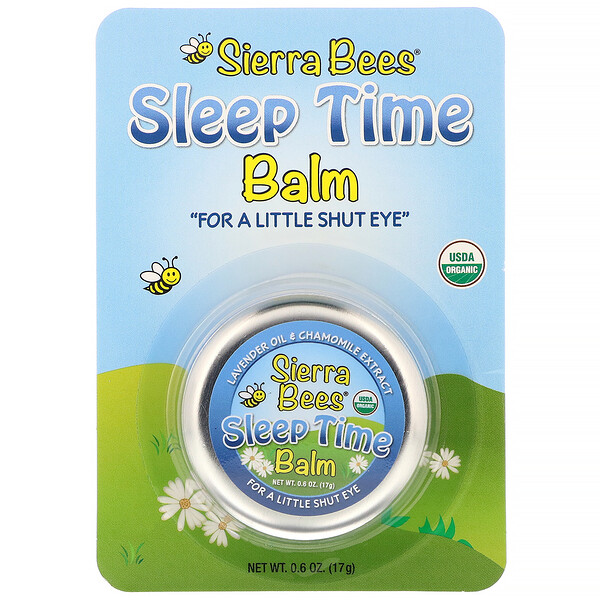 Sleep Time Balm, Lavender & Chamomile, 0.6 oz (17 g)