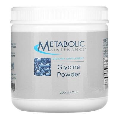 Купить Metabolic Maintenance Glycine Powder, 7 oz (200 g)
