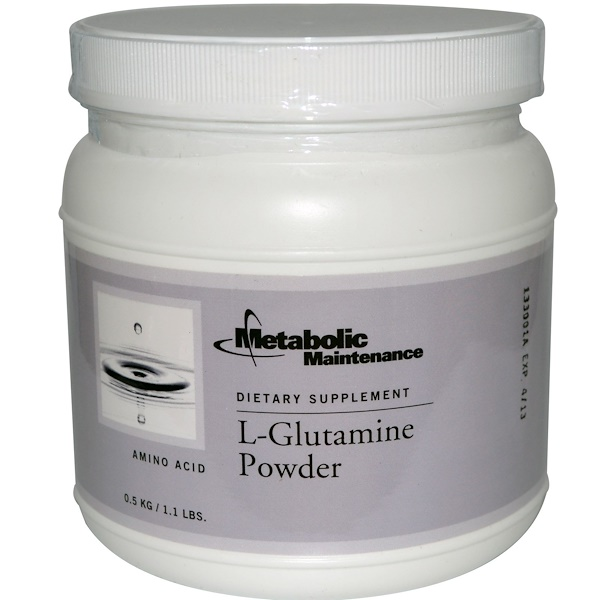 Metabolic Maintenance, L-Glutamine Powder, 1.1 lbs (0.5 kg) (Discontinued Item)