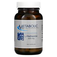 Metabolic Maintenance, L-Methionine, 500 mg, 100 Capsules