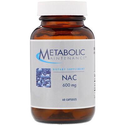 Купить Metabolic Maintenance NAC, 600 мг, 60 капсул