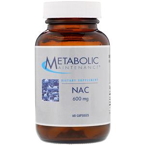 Метаболик Мэйтнанс, NAC, 600 mg, 60 Capsules отзывы покупателей
