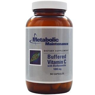 Metabolic Maintenance, 'Буферизованный витамин C с биофлавономдами, 1000 мг, 90 капсул
