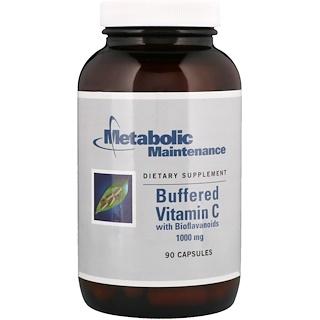 Metabolic Maintenance, Buffered Vitamin C with Bioflavonoids, 1000 mg, 90 Capsules