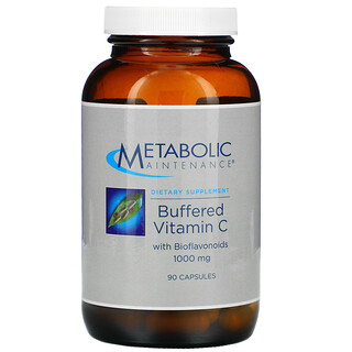 Metabolic Maintenance, VitamineC tamponnée avec bioflavonoïdes, 1000mg, 90capsules