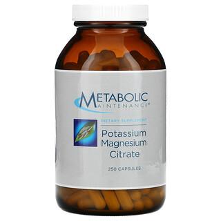 Metabolic Maintenance, Potassium Magnesium Citrate, 250 Capsules