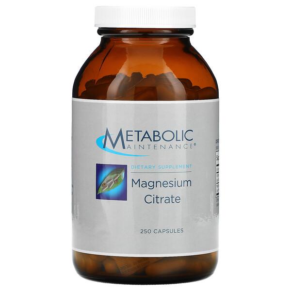 Metabolic Maintenance, Magnesium Citrate, 250 Capsules