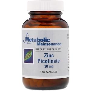 Метаболик Мэйтнанс, Zinc Picolinate, 30 mg, 100 Capsules отзывы покупателей