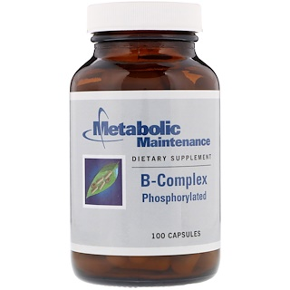 Metabolic Maintenance, B-Complex, Phosphorylated, 100 Capsules