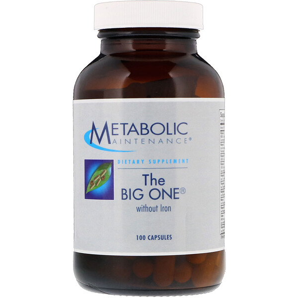 The Big One without Iron, 100 Capsules