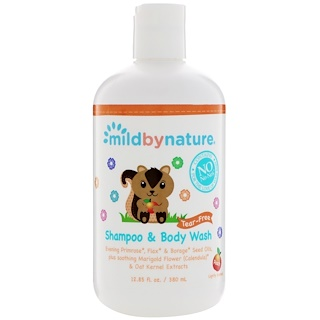 Mild By Nature, For Baby, Tear-Free Shampoo & Body Wash, Peach, 12.85 fl oz (380 ml)