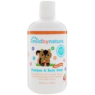 Mild By Nature, For Baby, Tear-Free Shampoo & Body Wash, Peach, 12.85 fl oz (380 ml)