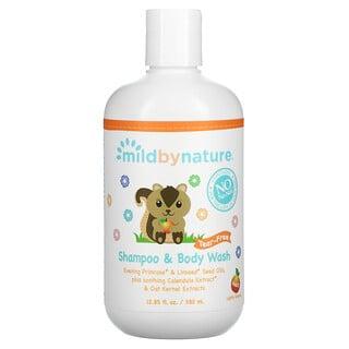 Mild By Nature, Tear-Free Baby Shampoo & Body Wash, Peach, 12.85 fl oz (380 ml)