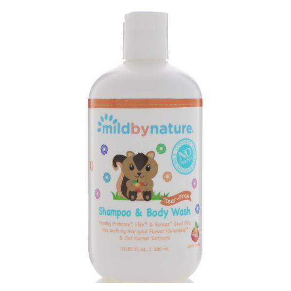 Mild By Nature, For Baby, Tear-Free Shampoo & Body Wash, 12.85 fl oz (380 ml)